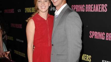 Heather Morris, Taylor Hubbell at the Spring Breakers