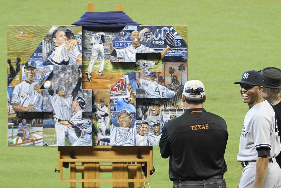 HOUSTON ASTROS The Astros gave Rivera a customized