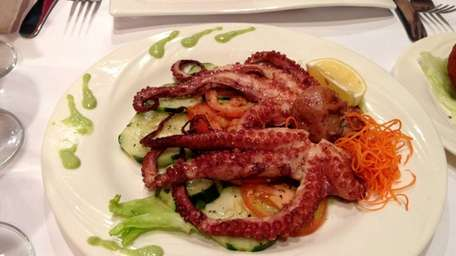 The grilled octopus at Cuzco Peru in Lynbrook.