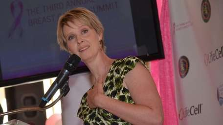 Actress Cynthia Nixon, a breast cancer survivor, talks