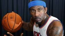 Amar'e Stoudemire poses during the Knicks media day
