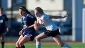 Hicksville's Brenda Quinn (10) battles for a loose
