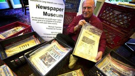Michael Tesoriero started collecting newspapers in 1970 when