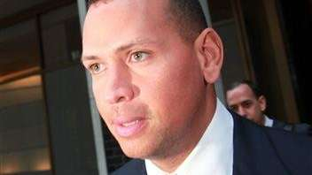 Alex Rodriguez leaves the offices of Major League