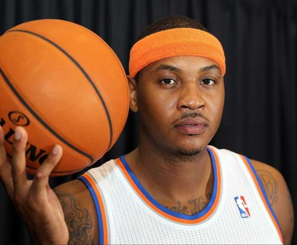 Carmelo Anthony at Knicks media day. (Sept. 30,