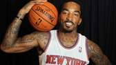 J.R. Smith during the Knicks media day. (Sept.