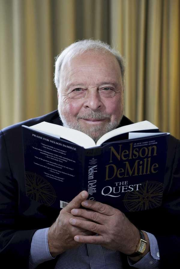 Nelson DeMille, a Long Island author, is photographed