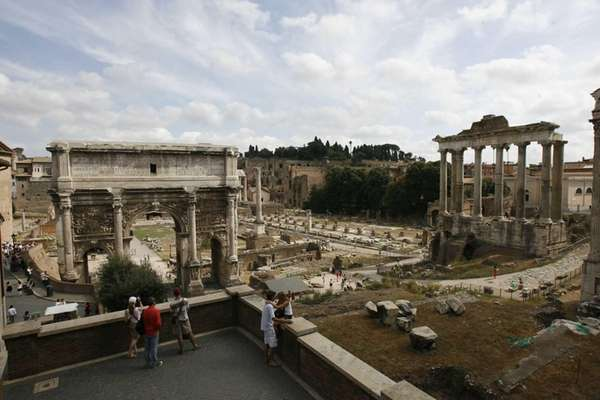 An overview of the Roman Forum. (Aug. 23,