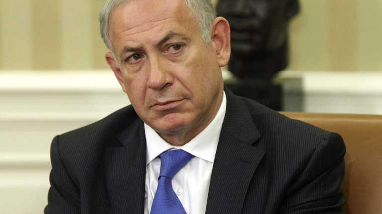 Israeli Prime Minister Benjamin Netanyahu after holding a
