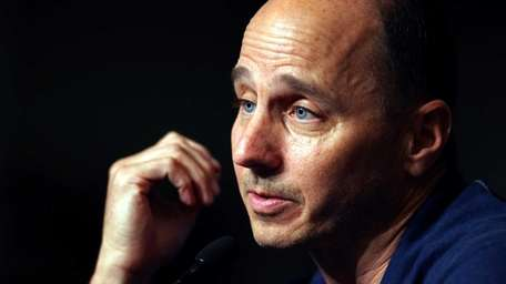 Yankees GM Brian Cashman holds a press conference