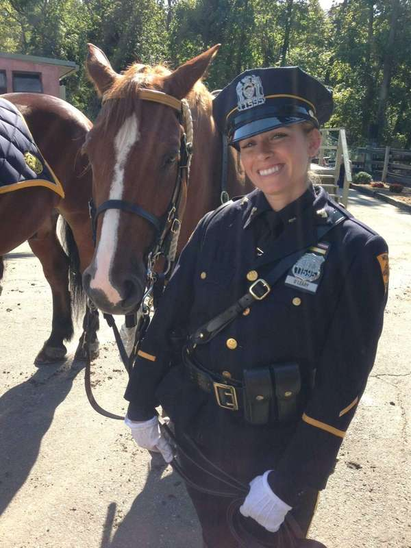 Police officer Meghan O'Leary of Suffolk County with