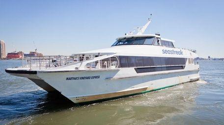 The Seastreak ferry water taxi vessel in the