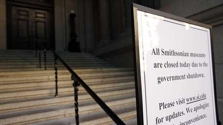 A sign outside Smithsonian National Museum in New