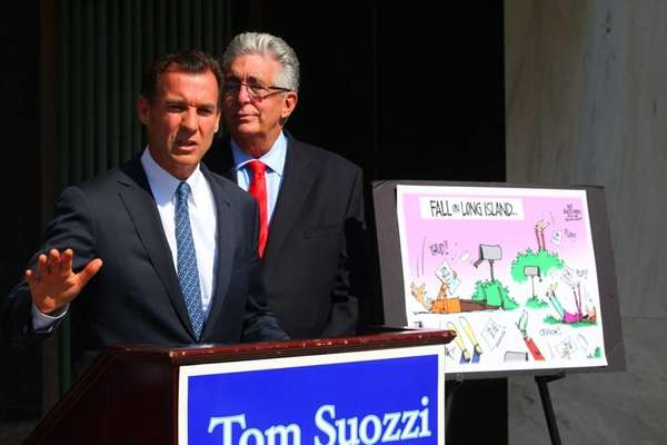 Thomas Suozzi, candidate for Nassau county executive, with