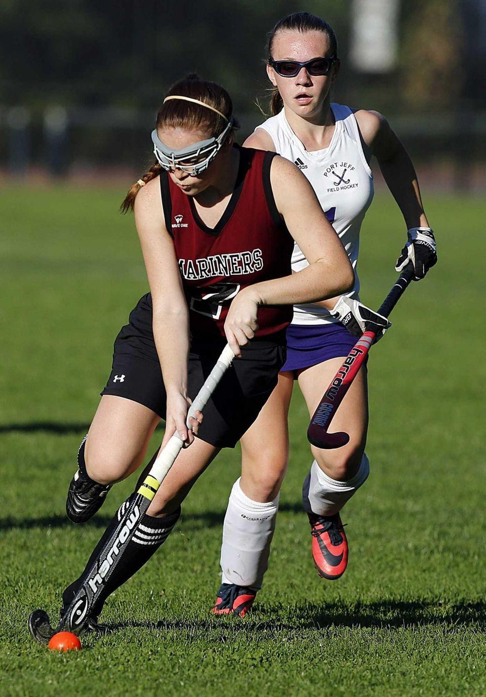 Southampton's Chloe Schmidt advances the ball ahead of