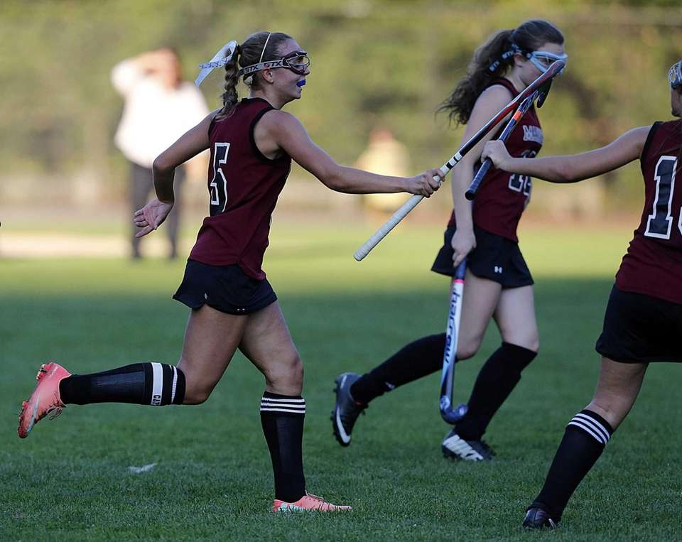 Southampton's Meggie Gallo accepts kudos after scoring the