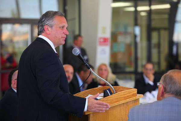 Nassau County Executive Ed Mangano speaks before the