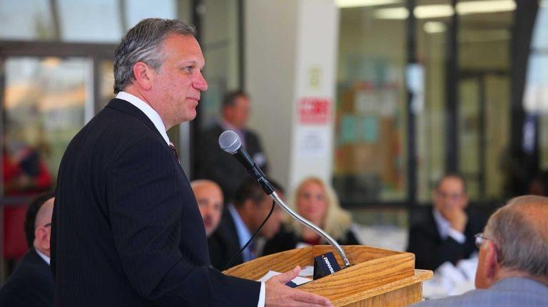 Nassau County Executive Ed Mangano speaks before the