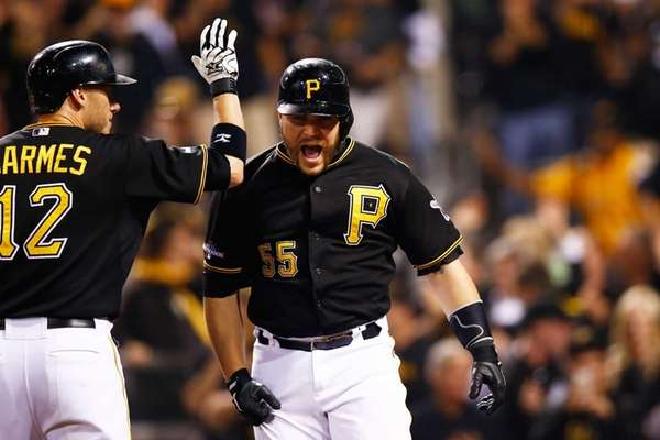 Russell Martin celebrates his solo home run with