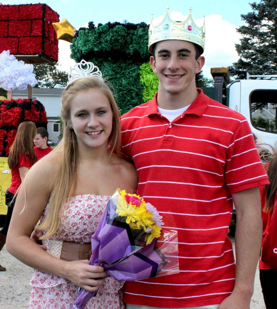 Sayville High School senior queen and king Sabrina