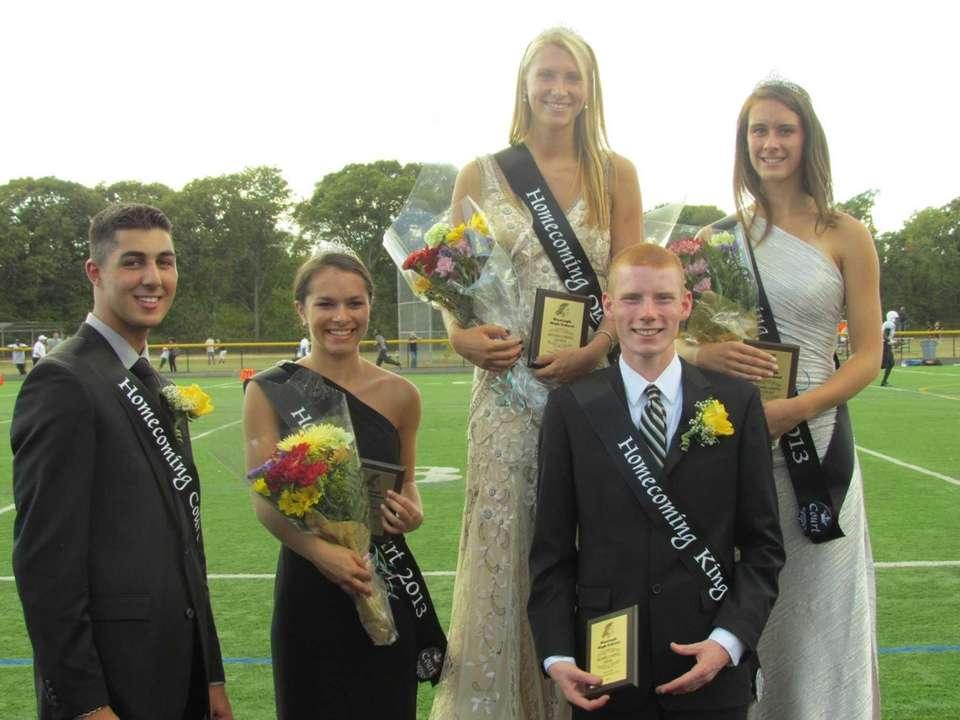 Wantagh High School homecoming king Andrew Bloniarz and