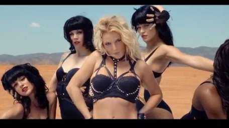 Britney Spears in the music video for