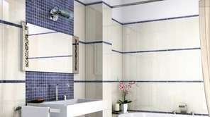 Mixing tile sizes adds interest.