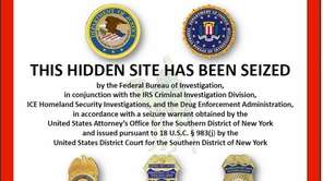 The FBI notice seals shut the notorious website