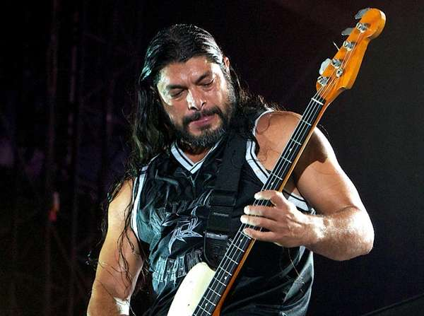 Metallica's bassist Robert Trujillo performing on Yas Island,