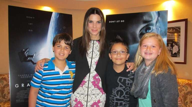 Actress Sandra Bullock, who stars in the movie