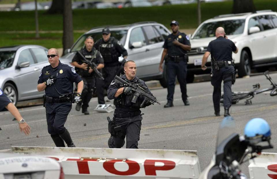 Police run after shots fired were reported on
