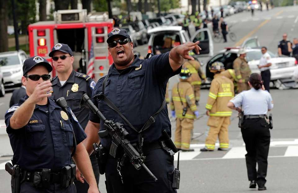 U.S. Capitol police respond to reports of shots