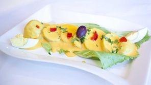 The Papa a la Huancaina, a Peruvian salad