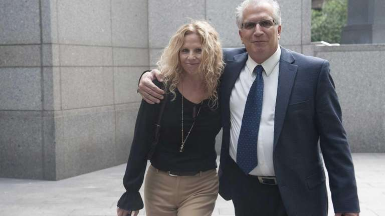 From left; Alison Catalano and her husband, former
