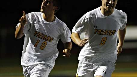 St. Anthony's TJ Butzke, left, and Michaelangelo Sini
