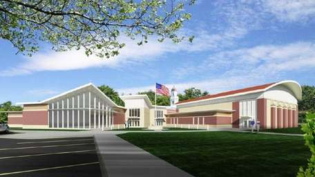 Rendering of the new Sewanhaka Central High School.