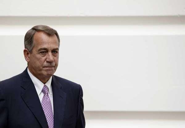House Speaker John Boehner of Ohio walks to