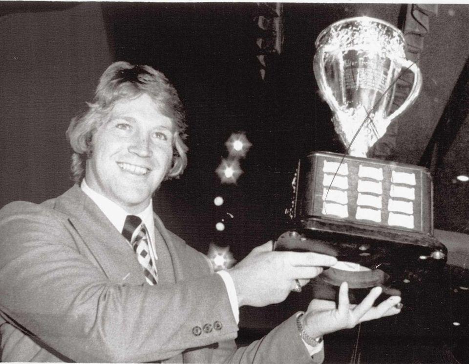 Islanders defenseman Denis Potvin holds the Calder Memorial