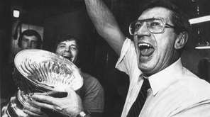 Islanders coach Al Arbour after winning the Stanley