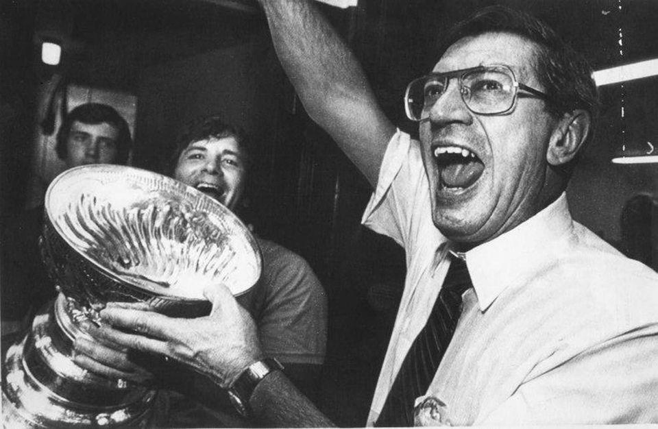 Islanders coach Al Arbour after winning the Stanley