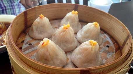 Crab and pork soup dumplings at the new