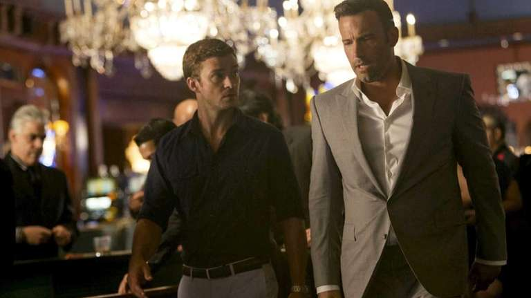Ben Affleck, right, and Justin Timberlake during a