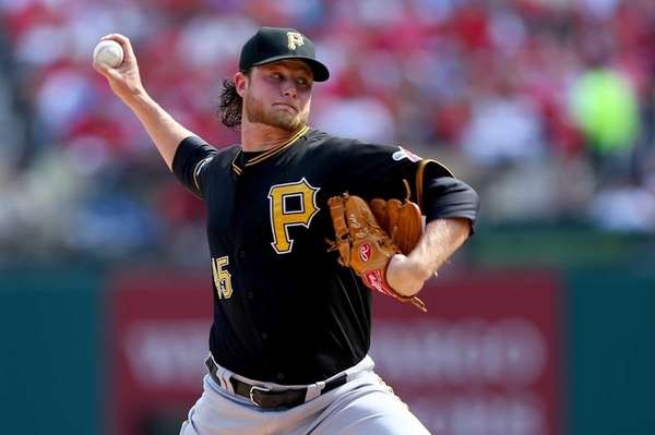 Starting pitcher Gerrit Cole of the Pittsburgh Pirates