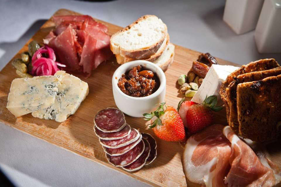 A selection from the charcuterie menu is served