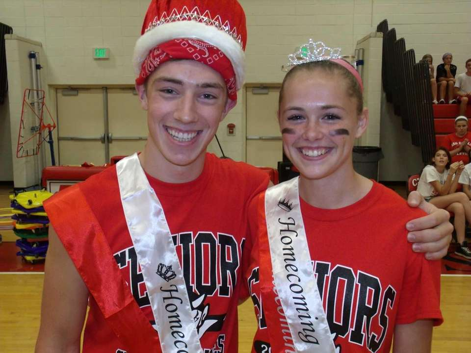Center Moriches High School homecoming king and queen