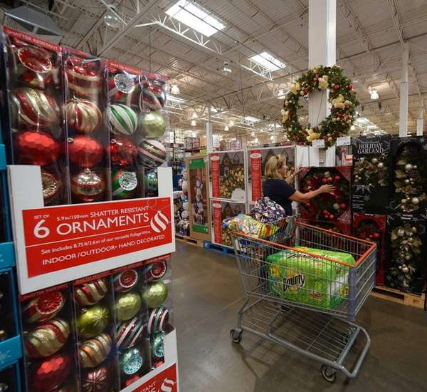 Holiday items already fill Costco aisles in Westbury.