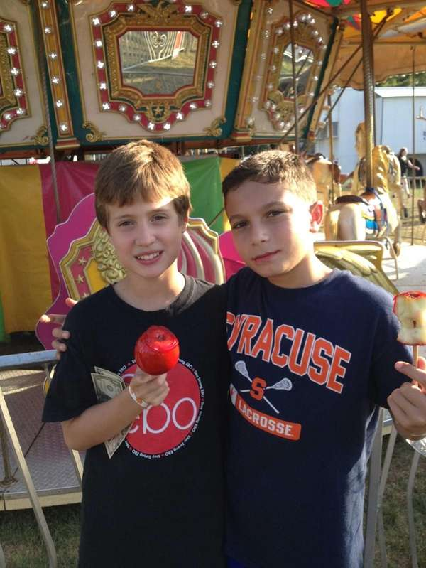From left, Nick Phillips and Joseph Bueti, fifth-graders