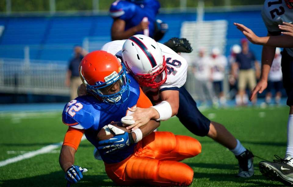 Malverne running back Charles Jenkins, Jr. (no. 22)