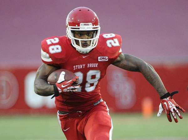 Stony Brook running back James Kenner runs the