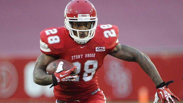 Stony Brook running back James Kenner runs the